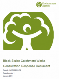 Black Sluice Catchment consultation response document released today (27th January 2016)