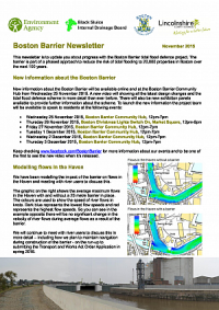 Latest Boston Barrier Information