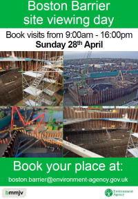 Boston Barrier Site Viewing Day - Sunday 28 April 2019